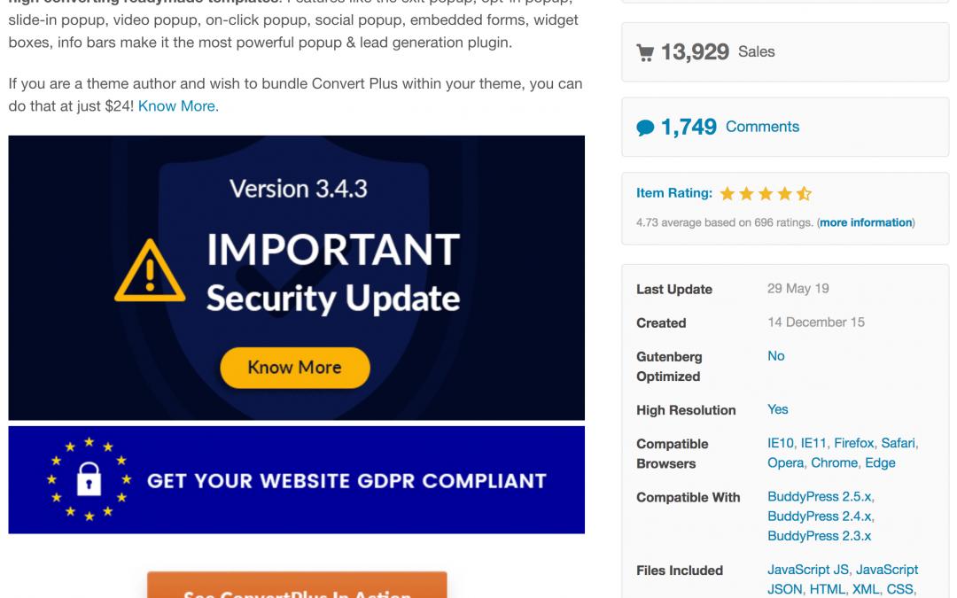 Critical Vulnerability Patched in Popular Convert Plus Plugin
